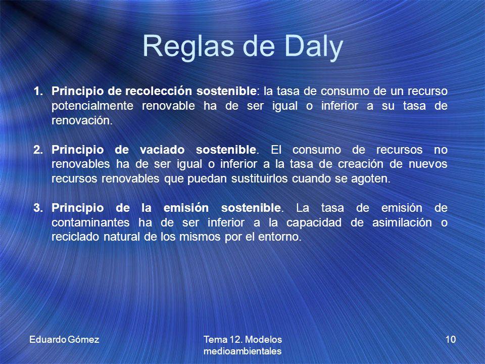 Tema 12. Modelos medioambientales