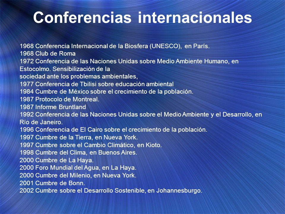 Conferencias internacionales