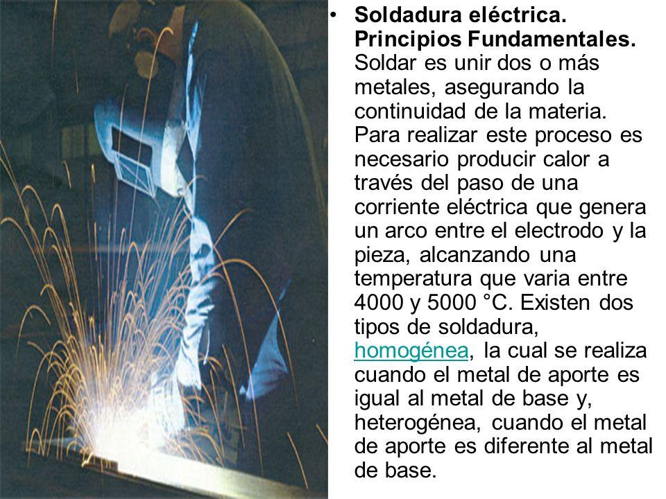 Soldadura eléctrica. Principios Fundamentales