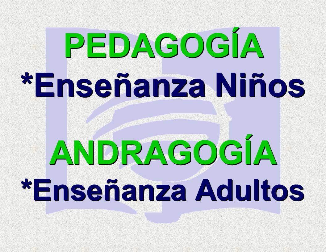 ANDRAGOGÍA *Enseñanza Adultos