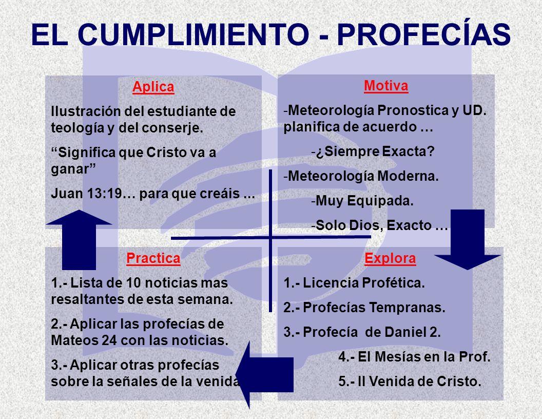 EL CUMPLIMIENTO - PROFECÍAS