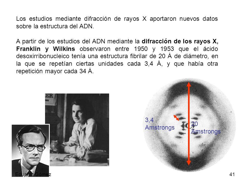 Los estudios mediante difracción de rayos X aportaron nuevos datos sobre la estructura del ADN.