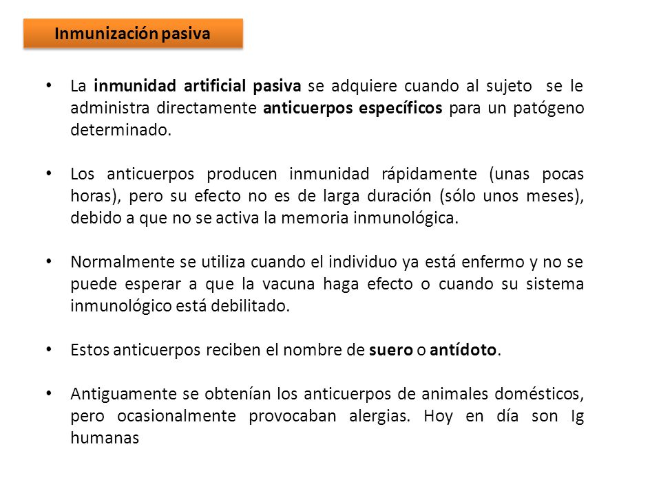 Inmunización pasiva