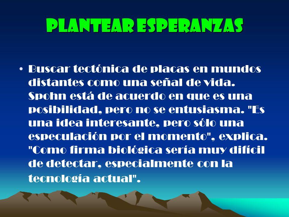 Plantear esperanzas