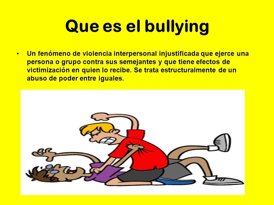 Que es el bullying un fen meno de violencia interpersonal - El bulin de horcajuelo ...