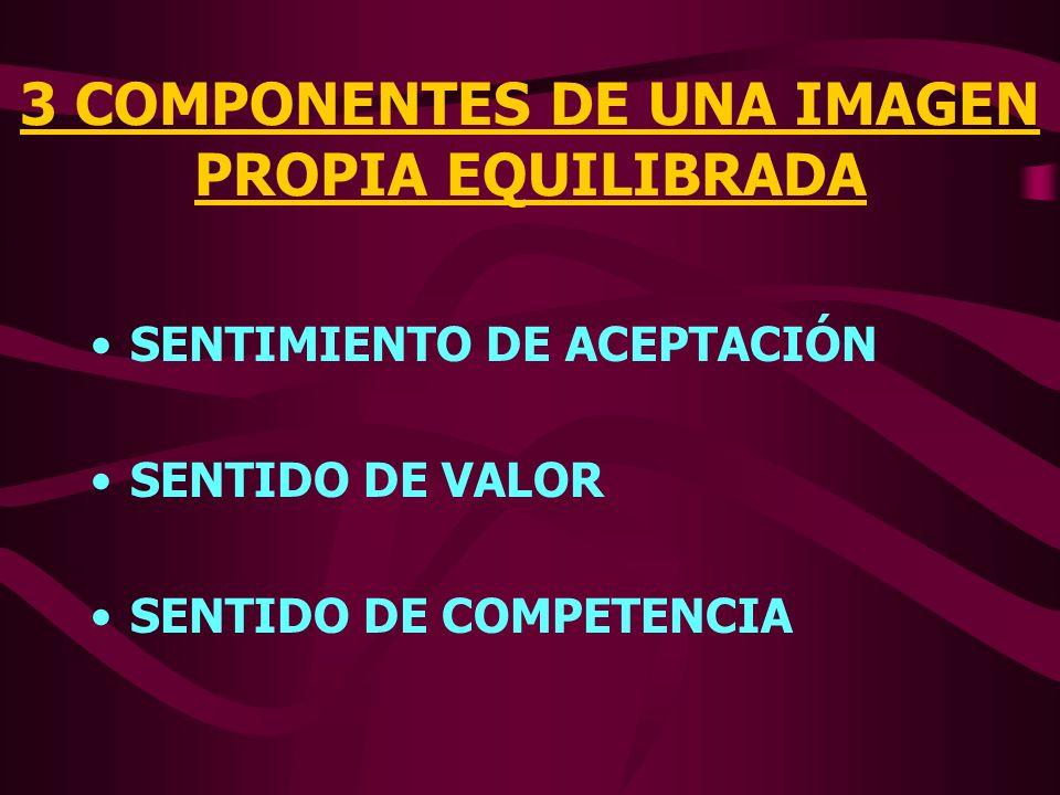 3 COMPONENTES DE UNA IMAGEN PROPIA EQUILIBRADA