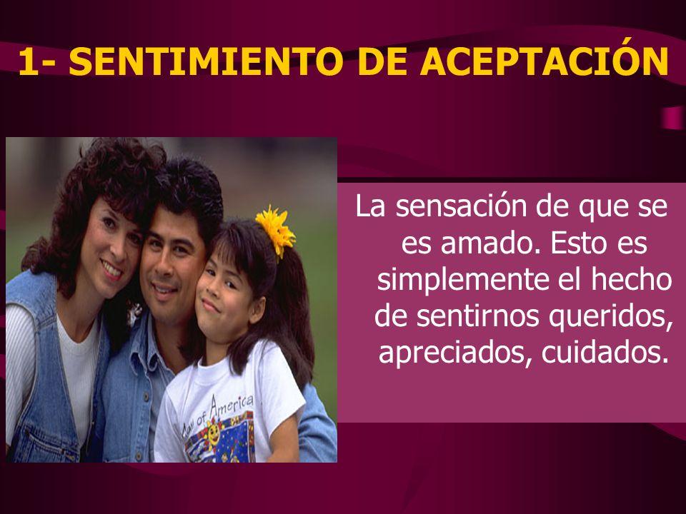 1- SENTIMIENTO DE ACEPTACIÓN