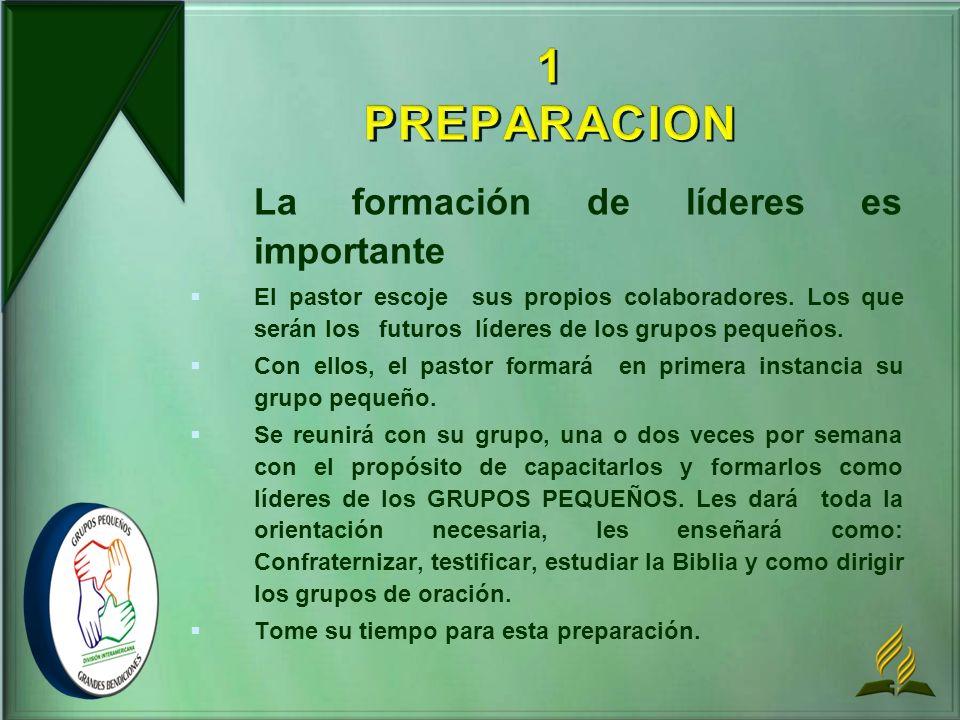 1 PREPARACION La formación de líderes es importante