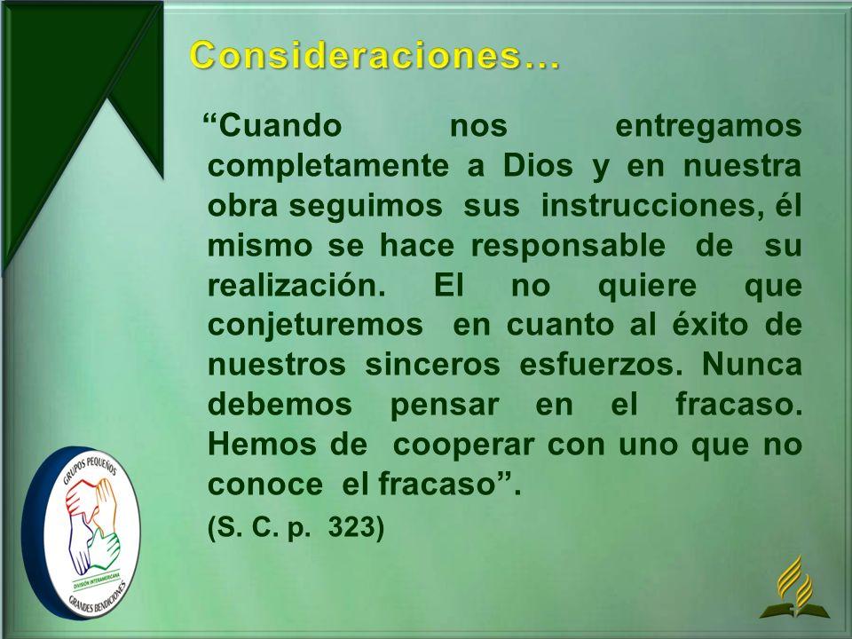 Consideraciones…