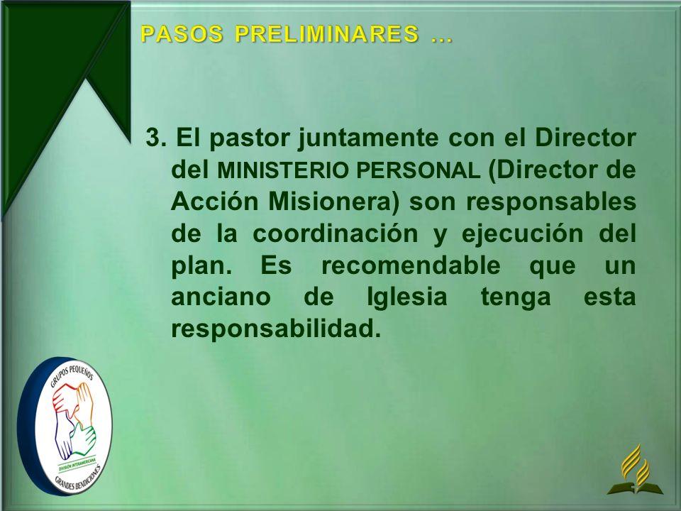 PASOS PRELIMINARES ...