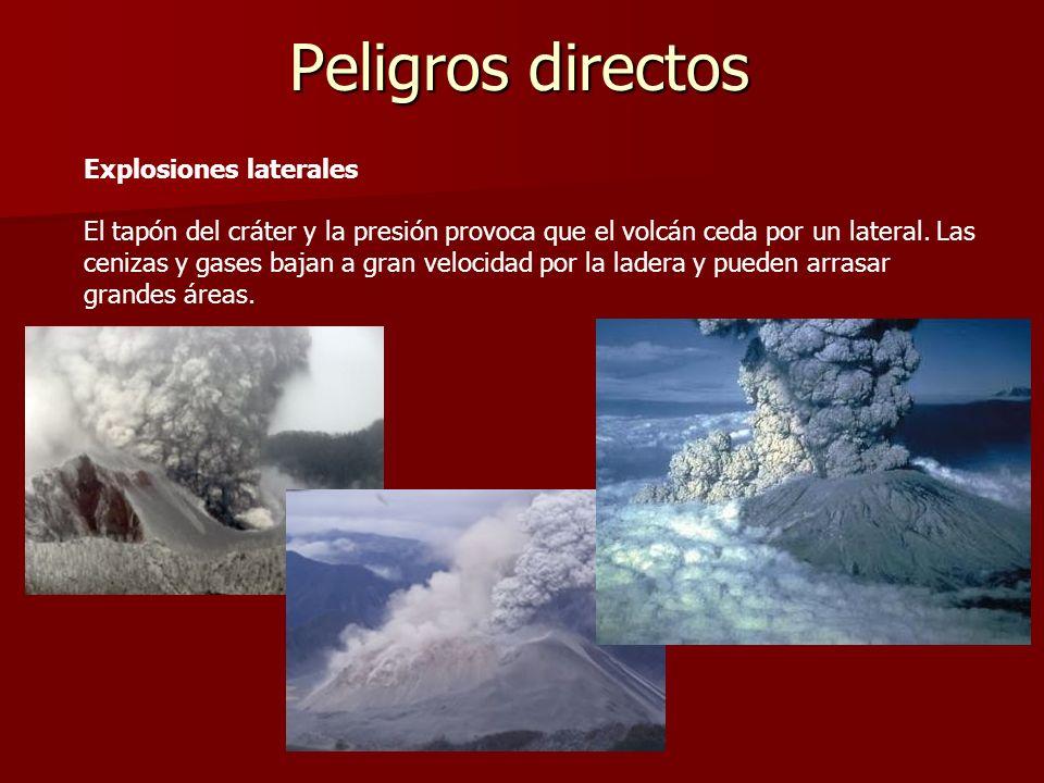 Peligros directos Explosiones laterales