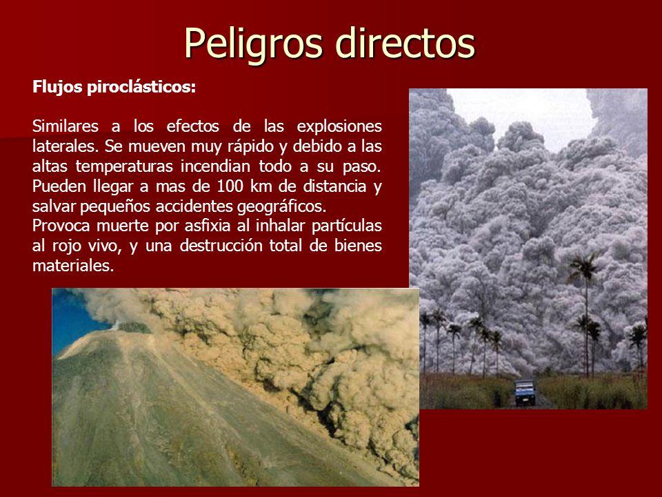 Peligros directos Flujos piroclásticos: