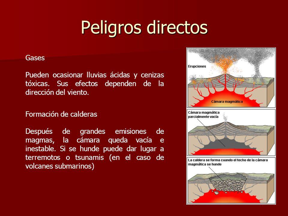 Peligros directos Gases