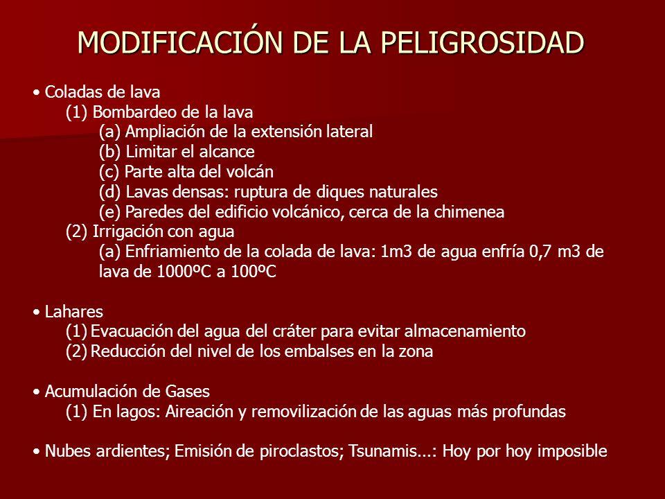 MODIFICACIÓN DE LA PELIGROSIDAD