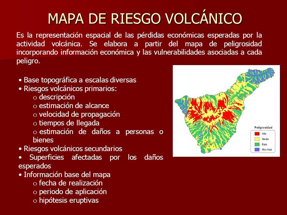 MAPA DE RIESGO VOLCÁNICO