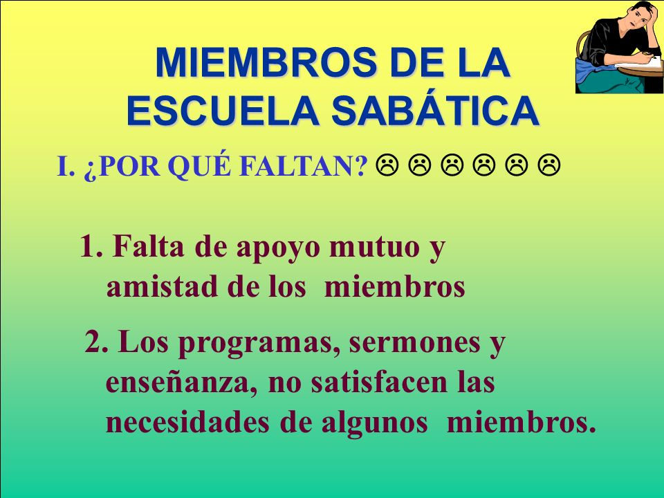 MIEMBROS DE LA ESCUELA SABÁTICA