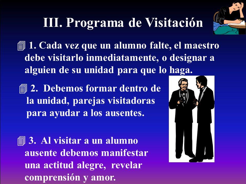 III. Programa de Visitación