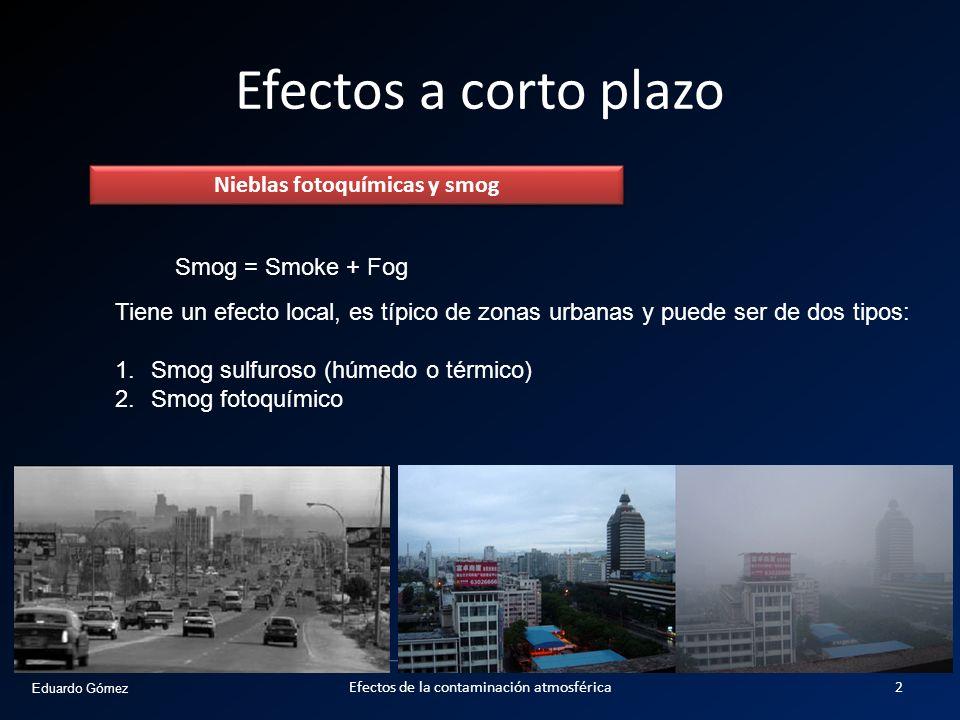 Nieblas fotoquímicas y smog