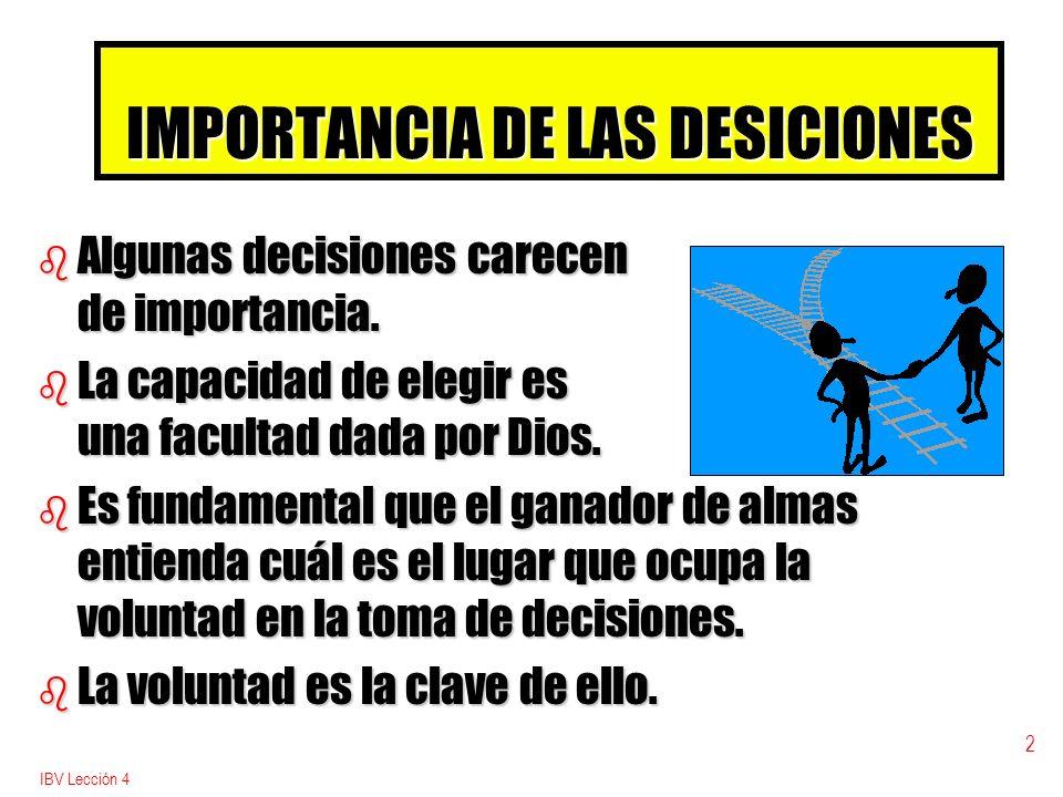 IMPORTANCIA DE LAS DESICIONES