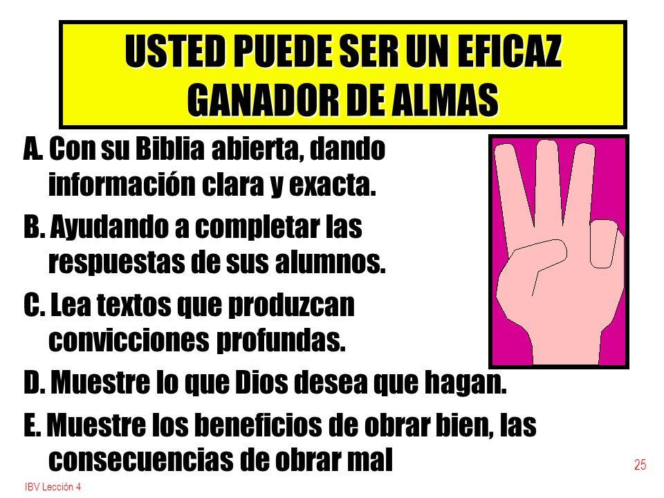 USTED PUEDE SER UN EFICAZ GANADOR DE ALMAS