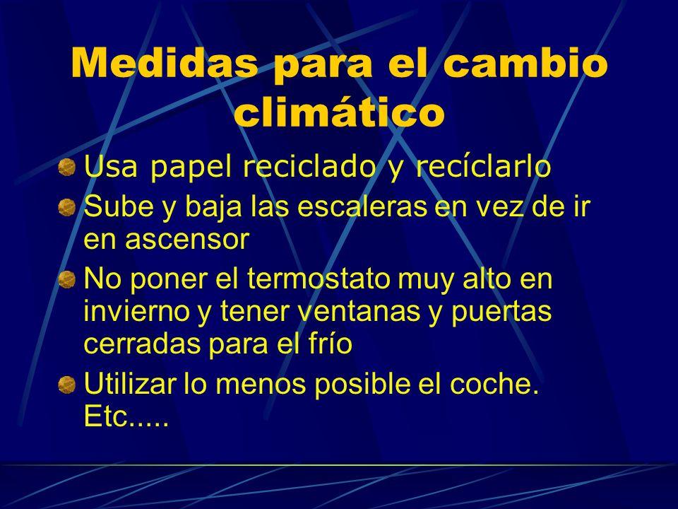 Medidas para el cambio climático