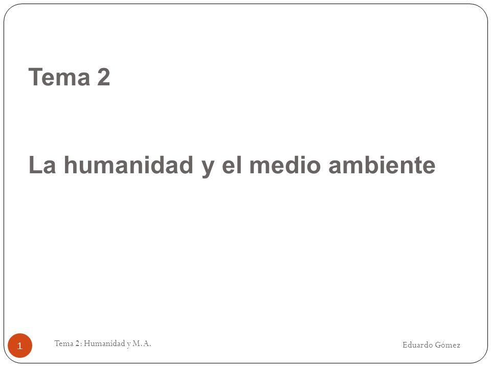 Tema 2 La humanidad y el medio ambiente