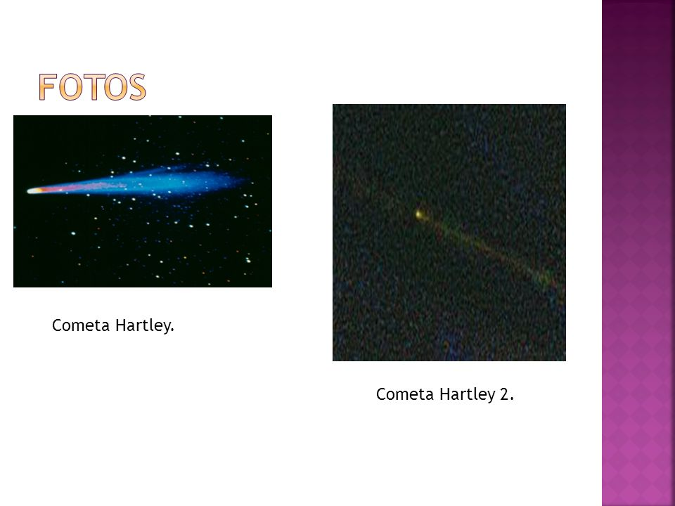 fotos Cometa Hartley. Cometa Hartley 2.