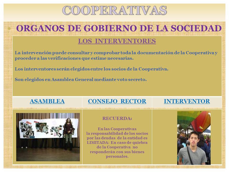 ORGANOS DE GOBIERNO DE LA SOCIEDAD SOCIOS: