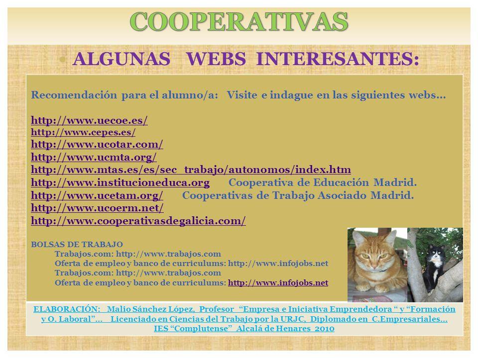 ALGUNAS WEBS INTERESANTES: IES Complutense Alcalá de Henares 2010