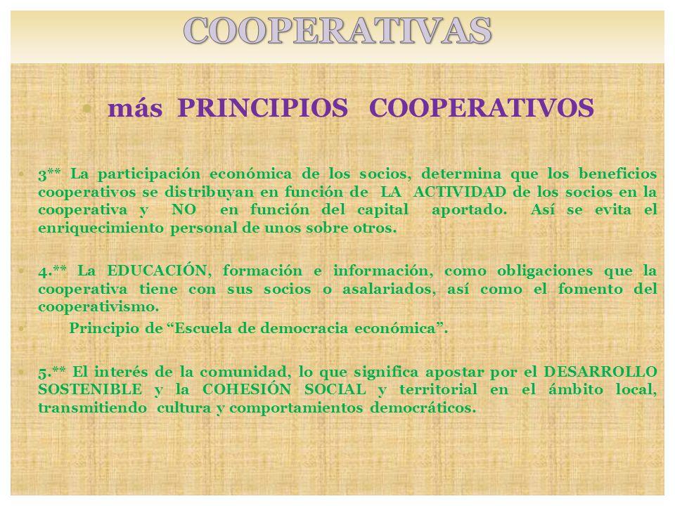 más PRINCIPIOS COOPERATIVOS