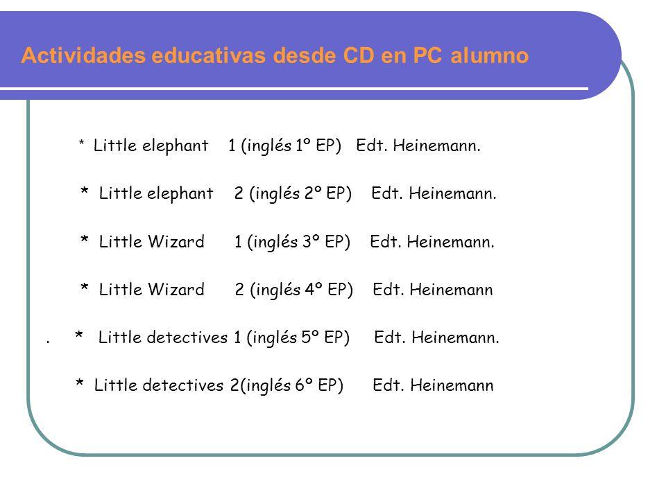 Actividades educativas desde CD en PC alumno