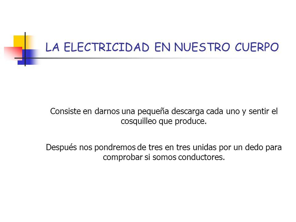LA ELECTRICIDAD EN NUESTRO CUERPO