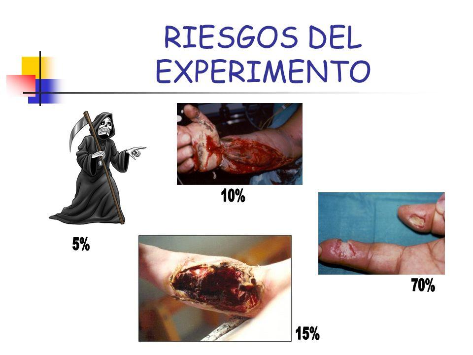 RIESGOS DEL EXPERIMENTO