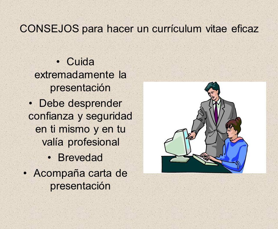 CONSEJOS para hacer un currículum vitae eficaz