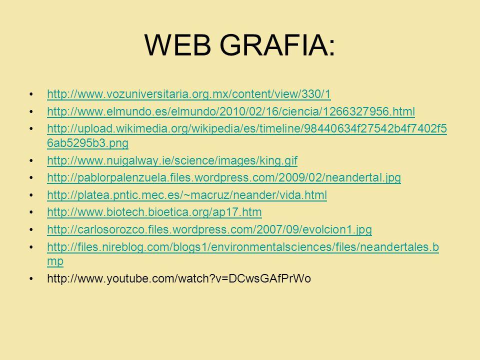 WEB GRAFIA: http://www.vozuniversitaria.org.mx/content/view/330/1