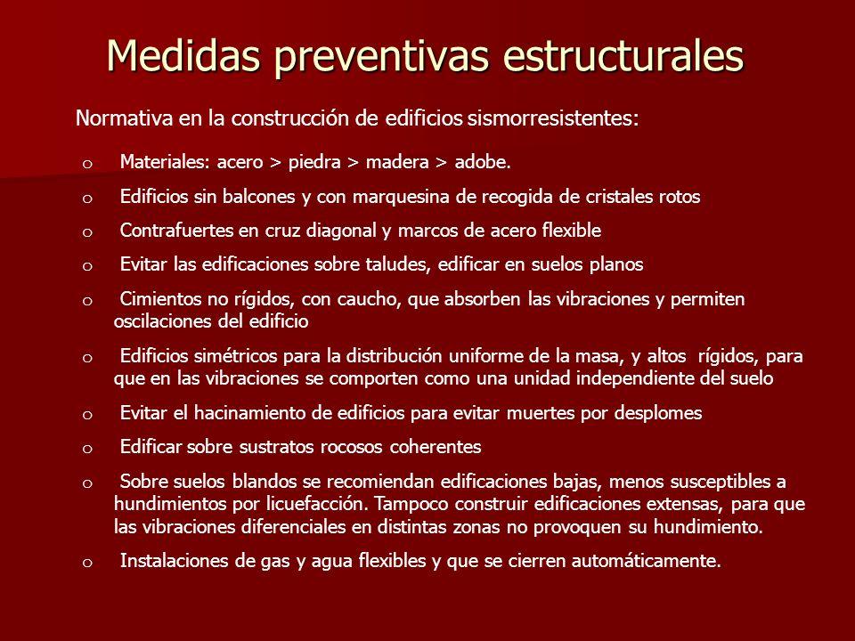 Medidas preventivas estructurales