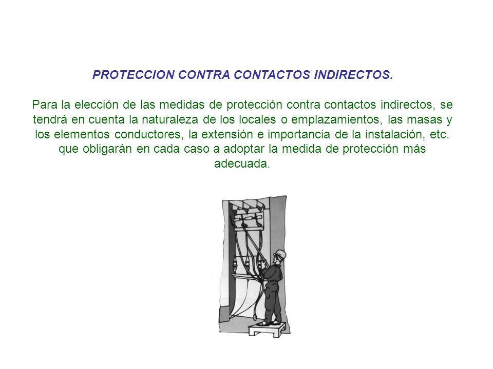 PROTECCION CONTRA CONTACTOS INDIRECTOS.