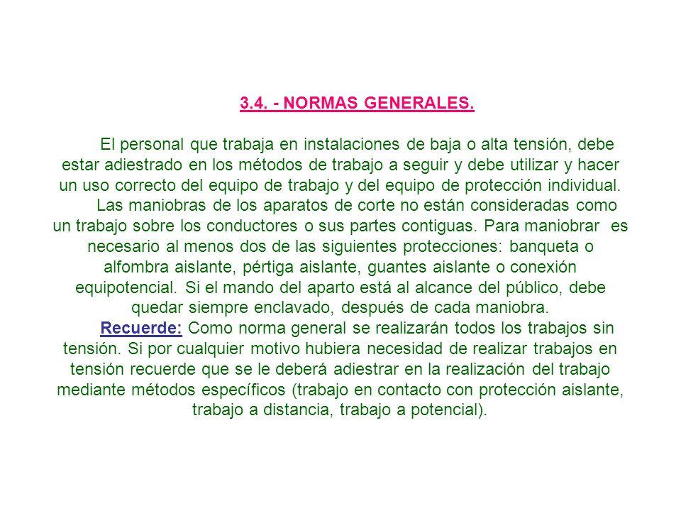 3.4. - NORMAS GENERALES.
