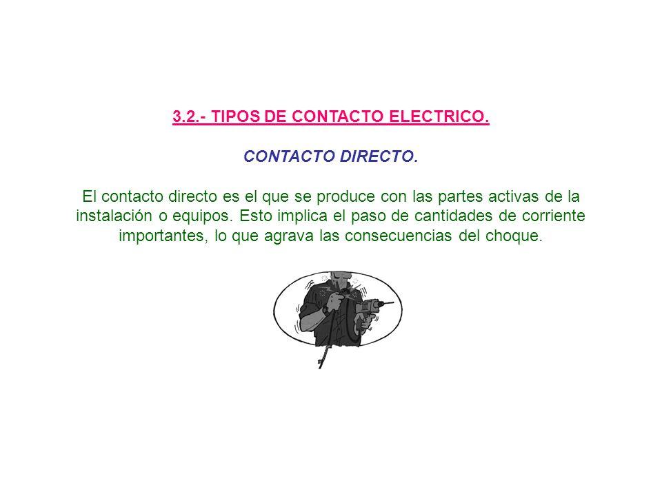 3.2.- TIPOS DE CONTACTO ELECTRICO.