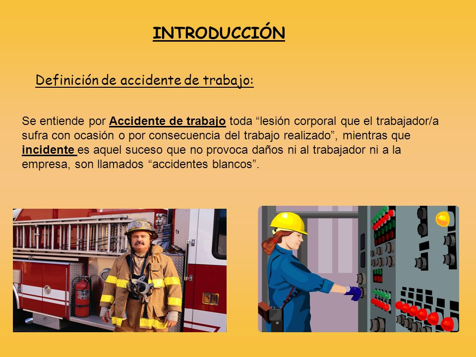 Definición de accidente de trabajo: