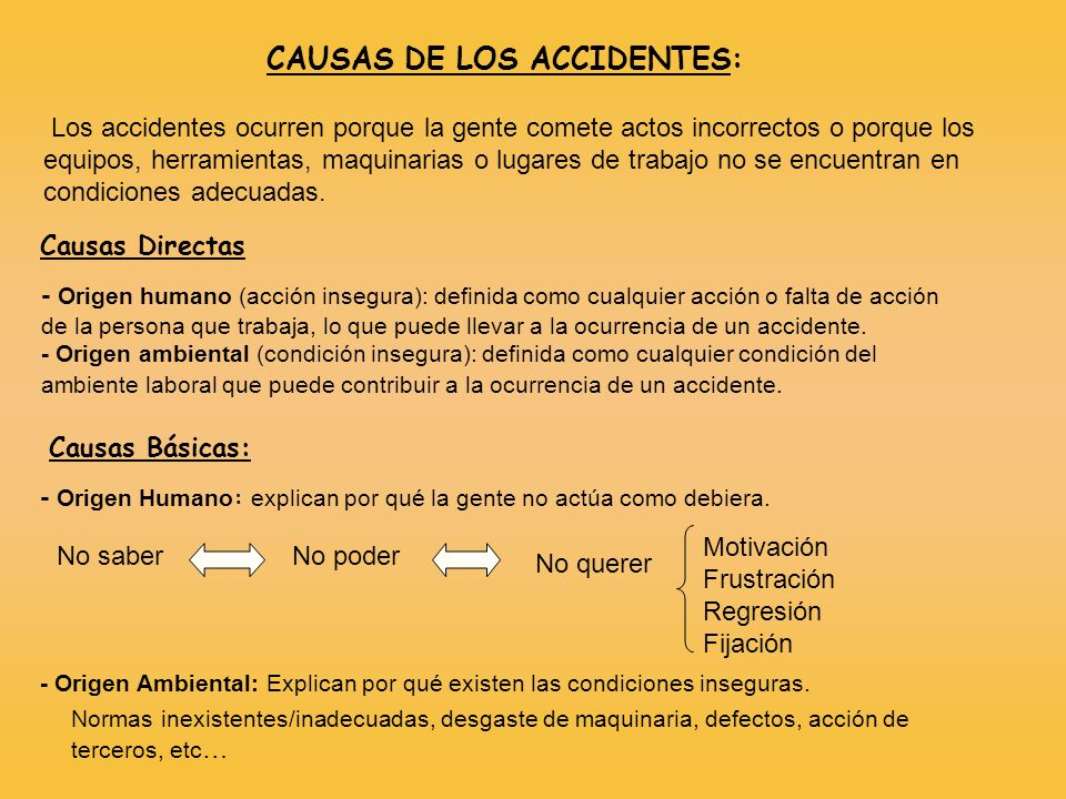 CAUSAS DE LOS ACCIDENTES: