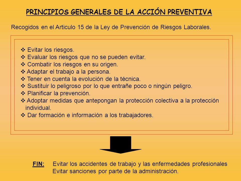 PRINCIPIOS GENERALES DE LA ACCIÓN PREVENTIVA