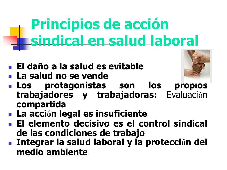Principios de acción sindical en salud laboral