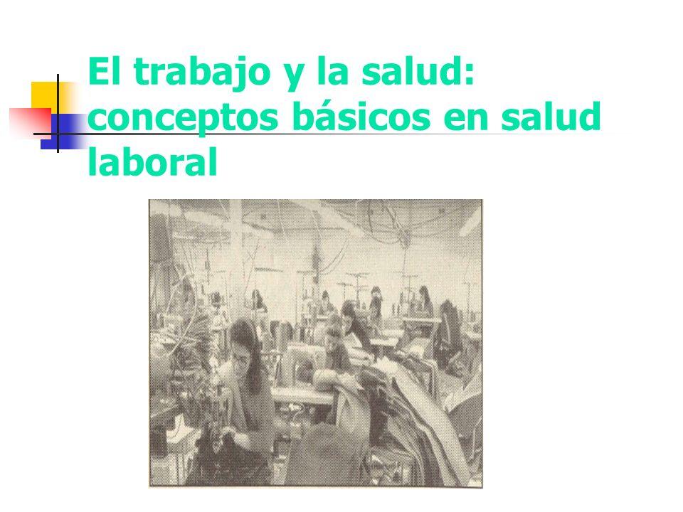 El trabajo y la salud: conceptos básicos en salud laboral
