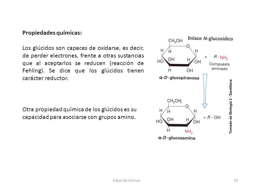 Propiedades químicas: