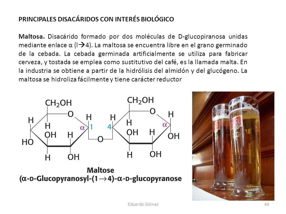 PRINCIPALES DISACÁRIDOS CON INTERÉS BIOLÓGICO
