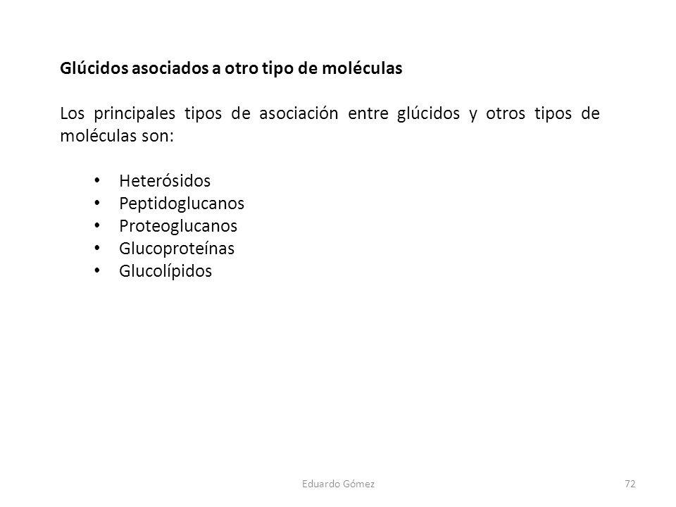 Glúcidos asociados a otro tipo de moléculas