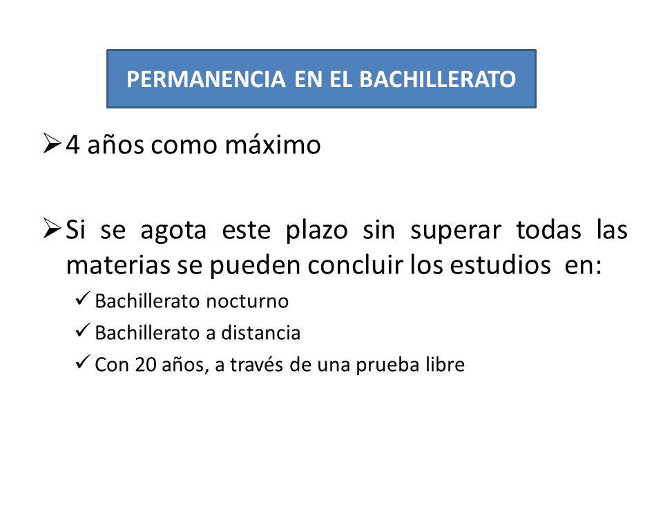 PERMANENCIA EN EL BACHILLERATO