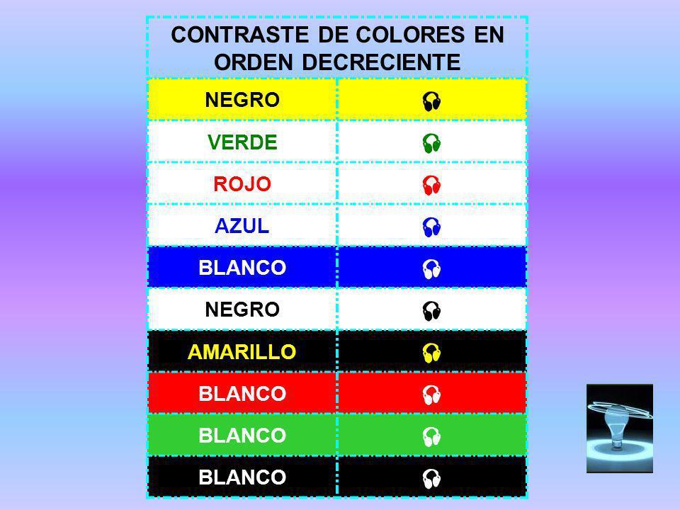 CONTRASTE DE COLORES EN