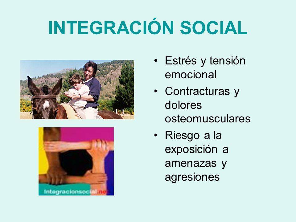 INTEGRACIÓN SOCIAL Estrés y tensión emocional